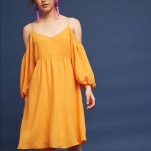 Anthropologie mustard yellow dress 👗